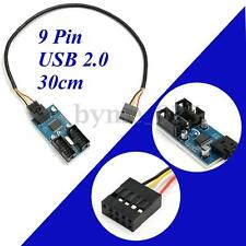 9 Pin USB Header Male 1 to 2 Female Extender Cable 9P USB2.0 Port Multiplier HUB