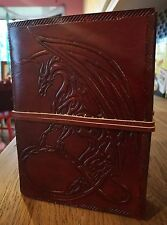 Fantasy Mythical Dragon leather journal , book of shadows, Dream book