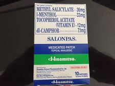 HISAMITSU Effective and Powerful Pain Relieving SALONPAS Patch - 10 SHEETS