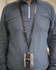 Adjustable Leather Neck Strap for Rollei 35 Cameras in Black or Tan
