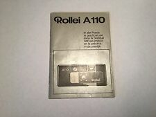 Rollei A110 In Practical Use Instruction Manual *FREE UK POSTAGE*