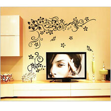 Flower Fad Art Vinyl Quote DIY Wall Sticker Decal Mural Home Decor Removable