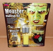 Halloween Monster Makeup Kit Fun World FlexibleTeeth Putty Liquid Latex 68Q