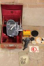 Antique~Paillard-Bolex H 8 8mm Movie Camera in Case~Accessories