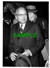 ORIGINAL 1968 PRESS PHOTO - UNITED NATIONS SECRETARY GENERAL U THANT AT HEATHROW