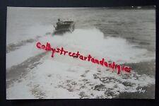 Boating on WHITE LAKE, Michigan vintage RPPC postcard, boat