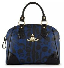 New VIVIENNE WESTWOOD Handbag Jungle Leopard Satchel Made in ITALY FREE SHIPPING