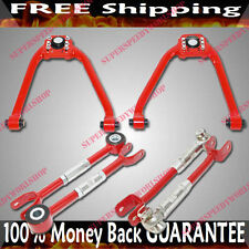 RED F+R Camber Arms Rear Toe Arm for 03-07 Nissan 350Z Coupe 2D 3.5L 3948CC V6