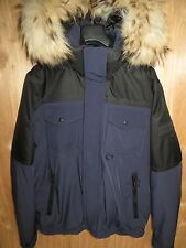 NEW $1195 BURBERRY SPORT MEN'S MARINE BLUE HOODED WINDBREAKER SKI JACKET Size XL