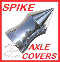 CHROME SPIKE FRONT AXLE NUT COVERS for HARLEY SPORTSTER MODELS