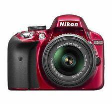 Nikon D D3300 24.2MP Digital  Camera - Red Kit w/ AF-S DX 18-55mm VR Lens Kit
