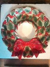 Fritz and Floyd/ Chip & Dip/ Christmas Wreath Serving Dish