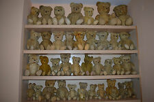 LOT of 40 old vtg antique Teddy Bear Toy straw jointed stuffed mohair European