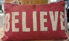 Christmas --Believe -Throw Pillow -Primitive By Kathy-2 Sided