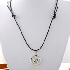 1PC Black New Pentagram Star Charm Necklace Fashion Jewelry 70cm