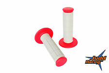 RED GRIPS DUAL DENSITY MX ENDURO HANDLEBAR GRIPS RED/GREY GAS GAS HALF WAFFLE