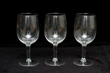 Vintage Classic Fine Crystal Wine Glass Glasses Clear Stem lot set 3 7""