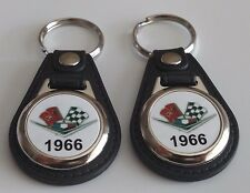 1966 CHEVY 2 PACK OF KEYCHAINS Chevrolet Bel Air, Biscayne, Caprice IMPALA FOB