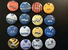 Everton Retro Shirt button badges x 16. Wholesale...Collector. Bargain!!!!