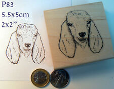 P83  Nubian goat rubber stamp WM