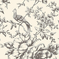 """12""""/31cm Wallpaper SAMPLE Historical Bird and Floral"""