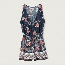 Abercrombie & Fitch Drapey Playsuit in Multi Xs Xtra Small  (ca976)