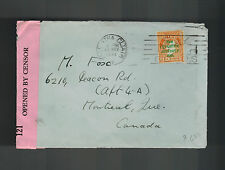 1941 Dublin Ireland Censored Cover to Montreal Canada
