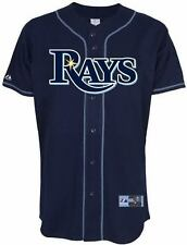 Tampa Bay Rays Jersey 4XL Home Navy Majestic MLB Embroidered Logos