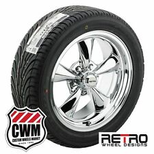 """17 inch 17x7"""" 17x8"""" RWD Chrome Wheels Rims Tires for Ford Mustang 67-73"""