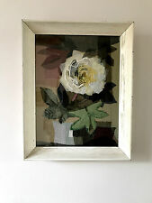 60S RETRO VINTAGE MID CENTURY MODERNIST EMBROIDERY PICTURE FRAME