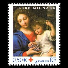 France 2003 - Red Cross Christmas Stamp Art - Sc B707 MNH