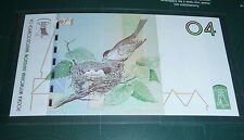 TEST NOTE SPRING BIRDS 04 BANKNOT with original folder UNC Specimen POLAND PWPW