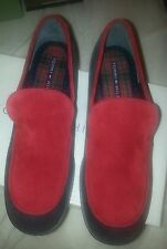 Suede Shoe Red Tommy Hilfiger Loafers Women Size 9 Ladies Slip On