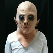 Scary Silicone Face Mask Alien UFO Horror Rubber Latex Masks For Halloween Party