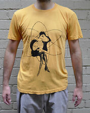 Marc By Marc Jacobs Maripol Atomic Woman Mustard SS T-Shirt Large NWT