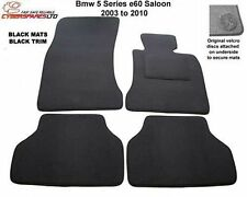Bmw 5 Series Saloon E60 2003 to 2010 Tailored Car Mats in black (Velcro Lock)
