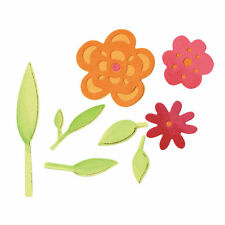Sizzix Sizzlits Die Flowers and Leaves Set, Pack of 3, 657385