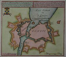 Genf - Geneve, de Hoofdstad ... - Carel Allard 1713 - Seltener Plan - Schweiz
