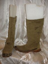 N.D.C. Signed HAND MADE SUEDE BOOTS Khaki Beige Size 39 EUR