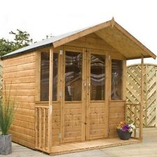 Summerhouse Garden Shed Heavy Duty Tanalised Log Cabin Modern Storage T&G New