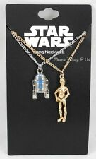 Disney Star Wars R2-D2 & C-3PO Best Friends Necklace Set Besties Droid Pendants