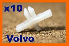 10 Volvo door body moulding bump rubbing strip plastic fasteners clips