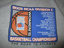 2003 NCAA ROAD to FINAL FOUR Women's Basketball (LG) Shirt UCONN Huskies Champs
