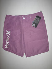 "NWT Hurley *3* Supersuede Beachrider 9"" Purple Lilac Boardshorts Board Shorts"