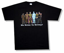 THE WATCHMEN - CHARACTER LINE UP BLACK T-SHIRT MOVIE NEW OFFICIAL ADULT L