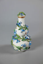 19C ANTIQUE MEISSEN 'FLOWER & INSECTS'  BOTTLE VASE