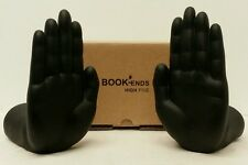 "Pair Of Luyesa Design Plastic Black ""High Five"" Figural Hand Shaped Bookends NIB"