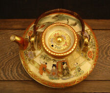 "2"" H MARKED Genkozan JAPANESE MEIJI PERIOD SATSUMA MINIATURE SAKE / TEA POT"