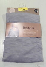 BNWT M & S GREY HEATGEN LONG SLEEVE THERMAL VEST SZ 16