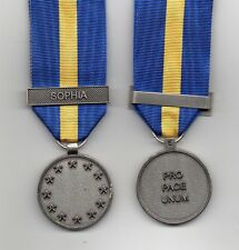 *** NEW *** EU-ESDP MEDAL WITH CLASP: SOPHIA - ORIGINAL ISSUE FULL-SIZE MEDAL
